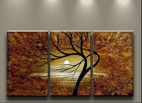 Reach the Moon! Hot! Nice Landscape Oil Painting (+ Frame) LA3-045