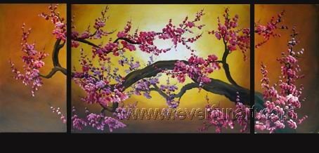 Gorgeous Oil Floral Painting on Canvas Asian Art (+Frame) FL3-013