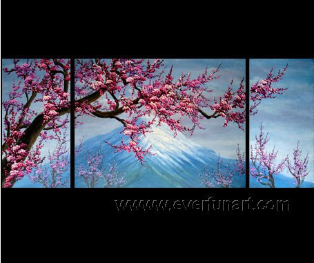 Gorgeous Oil Floral Painting on Canvas Asian Art (+Frame) FL3-014