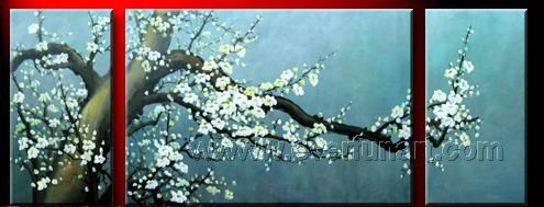 Gorgeous Oil Floral Painting on Canvas Asian Art (+Frame) FL3-015