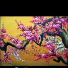 Gorgeous Oil Floral Painting on Canvas Asian Art (+Frame) FL3-017