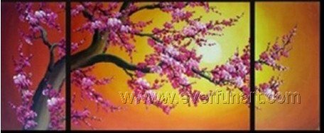 Gorgeous Oil Floral Painting on Canvas Asian Art (+Frame) FL3-018