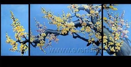 Gorgeous Oil Floral Painting on Canvas Asian Art (+Frame) FL3-019