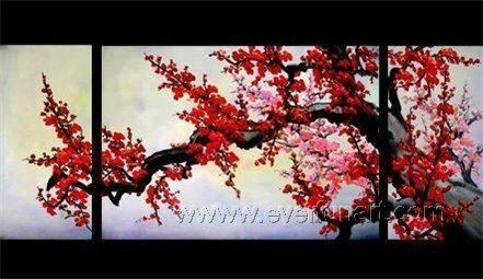 Gorgeous Oil Floral Painting on Canvas Asian Art (+Frame) FL3-026