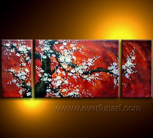 Gorgeous Oil Floral Painting on Canvas Asian Art (+Frame) FL3-032