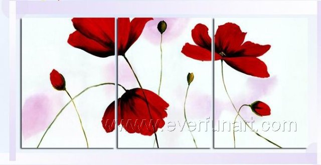 Gorgeous Oil Floral Painting on Canvas Very Pretty Flowers (+Frame) FL3-035
