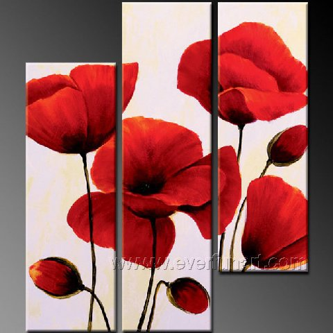 Gorgeous Oil Floral Painting on Canvas Very Pretty Flowers (+Frame) FL3-042