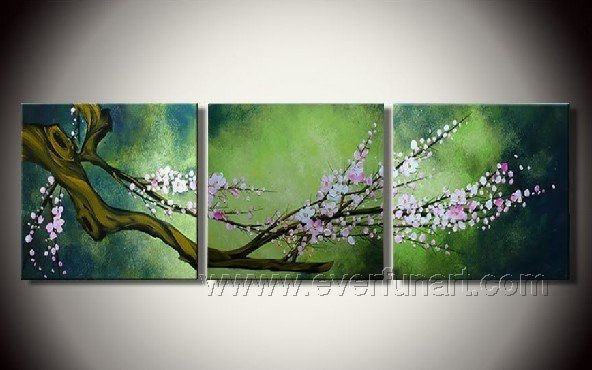 Gorgeous Oil Floral Painting on Canvas Very Pretty Flowers (+Frame) FL3-056