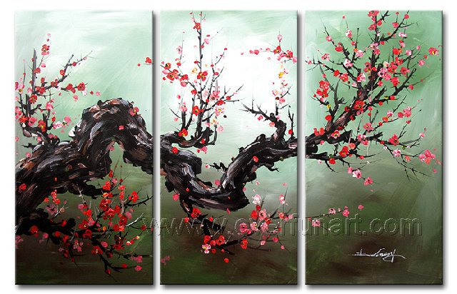 Gorgeous Oil Floral Painting on Canvas Very Pretty Flowers (+Frame) FL3-057