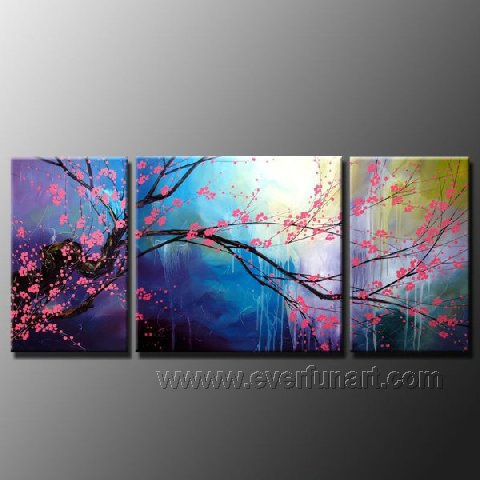 Gorgeous Oil Floral Painting on Canvas Very Pretty Flowers (+Frame) FL3-066