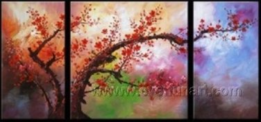 Gorgeous Oil Floral Painting on Canvas Very Pretty Flowers (+Frame) FL3-067