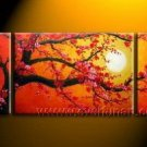 Gorgeous Oil Floral Painting on Canvas Asian Art (+Frame) FL3-079