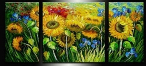 Gorgeous Oil Floral Painting on Canvas Very Pretty Flowers (+Frame) FL3-133