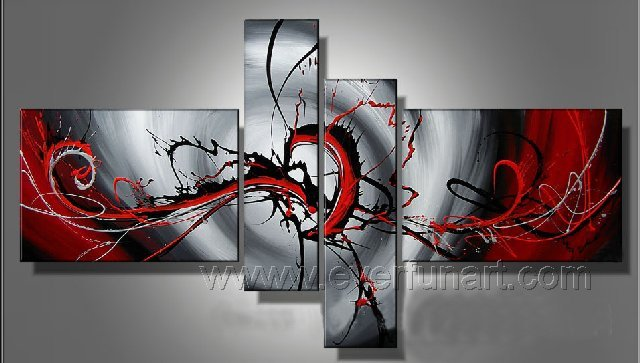 Handmade Abstract Oil Painting Modern Art Wall Decor Canvas Painting (+Frame) XD4-019