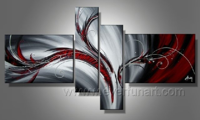 Handmade Abstract Oil Painting Modern Art Wall Decor Canvas Painting (+Frame) XD4-021