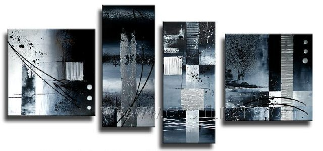 Handmade Abstract Oil Painting Modern Art Wall Decor Canvas Painting (+Frame)  XD4-042