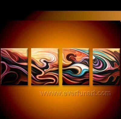 Handmade Abstract Oil Painting Modern Art Wall Decor Canvas Painting (+Frame) XD4-056
