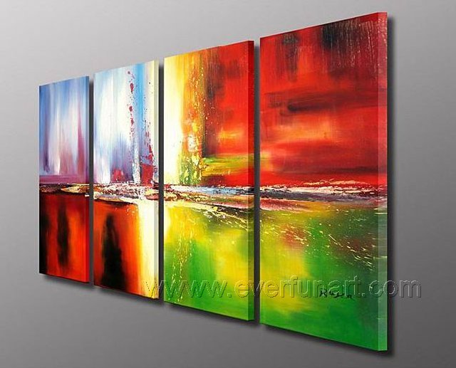 Handmade Abstract Oil Painting Modern Art Wall Decor Canvas Painting (+Frame) XD4-182