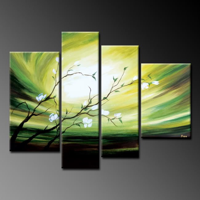 Handpainted Landscape Oil Impressionist Art Canvas Painting (+Frame) LA4-020