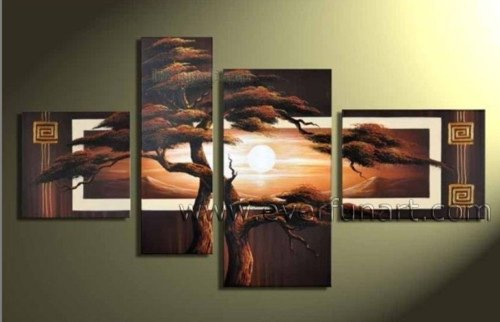 Handpainted Landscape Oil Impressionist Art Canvas Painting (+Frame) LA4-025