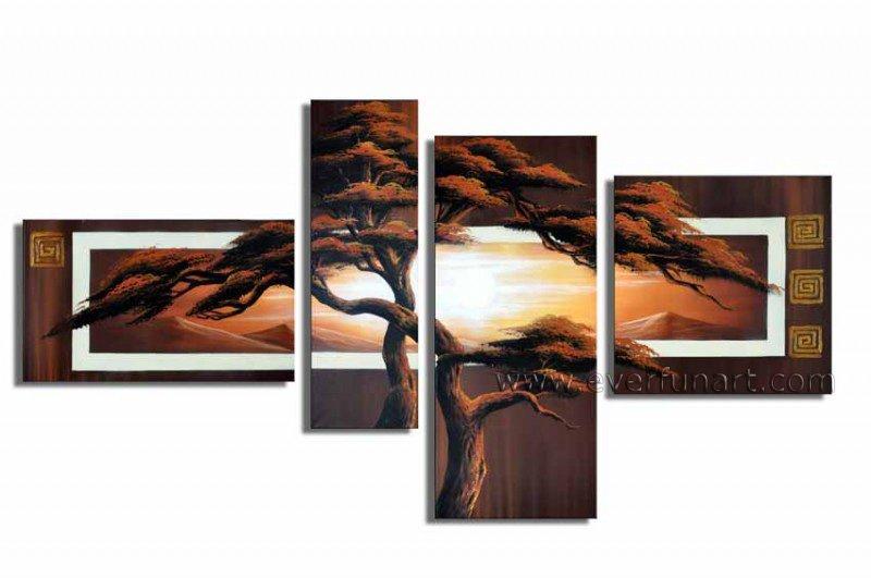 Handpainted Landscape Oil Impressionist Art Canvas Painting (+Frame) LA4-028