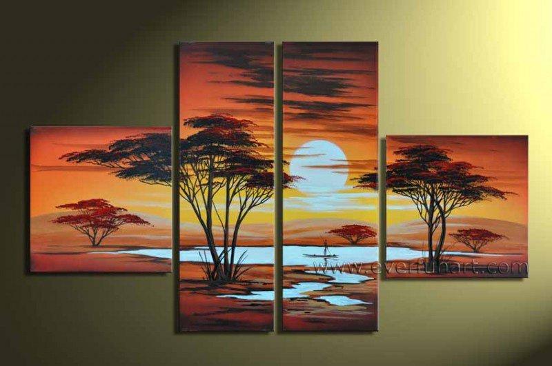 Handpainted Landscape Oil Impressionist Art Canvas Painting (+Frame) LA4-030