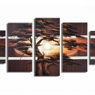 Hot Sell 5 Pieces of Tree Painting!Handpainted Landscape Oil Canvas Art (+Frame) LA5-002