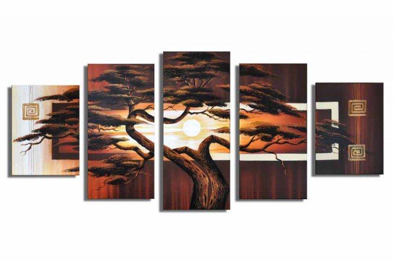 Top Sell Tree Painting.Handpainted Landscape Oil Impressionist Art Canvas Painting (+Frame) LA5-007