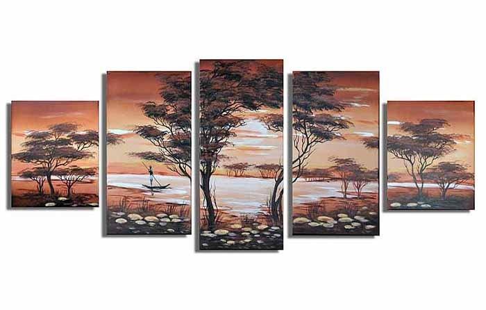 Classical Twilight_Handpainted Landscape Oil Impressionist Art Canvas Painting (+Frame) LA5-009