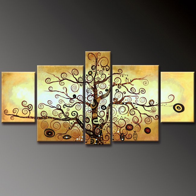 Golden Tree ~ Framed! Modern Wall Decor Art Landscape Huge Oil Painting On Canvas LA5-024