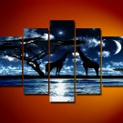 Touch The Moon! Handpainted Landscape Oil Impressionist Art Canvas Painting (+Frame) LA5-030