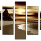 Beautiful Sunset.Handpainted Landscape Oil Impressionist Art Canvas Painting (+Frame) LA5-031