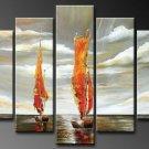Never Stop Going Ahead !Handpainted Landscape Oil Impressionist Art Canvas Painting (+Frame) LA5-032