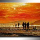 Huge Mordern Abstract Figurative Wall Decor Art Canvas Oil Painting (+ Frame) FI-021
