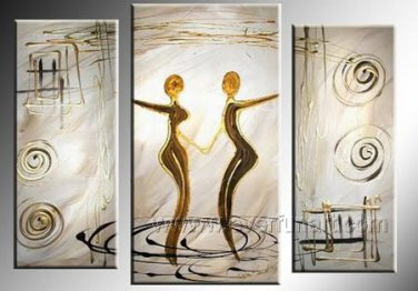 Huge Mordern Abstract Figurative Wall Decor Art Canvas Oil Painting (+ Frame) FI-057