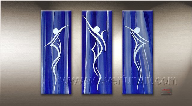 Huge Mordern Abstract Figurative Wall Decor Art Canvas Oil Painting (+ Frame) FI-060