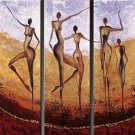 Huge Mordern Abstract Figurative Wall Decor Art Canvas Oil Painting (+ Frame) FI-078
