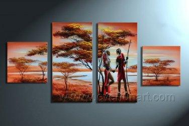 Canvas Oil Painting Framed African Art (+ Frame) AR-004