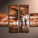 Classical African Art_Canvas Oil Painting Framed African Art (+ Frame) AR-007