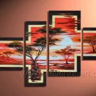 Half Sun_Canvas Oil Painting Framed African Art (+ Frame) AR-009
