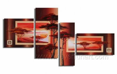 Attractive painting_ PaintignCanvas Oil Painting Framed African Art (+ Frame) AR-014