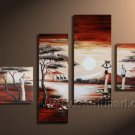 Top Sell Group Painting _Canvas Oil Painting Framed African Art (+ Frame) AR-017
