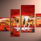 A Wooded Path In Autumn _Canvas Oil Painting Framed African Art (+ Frame) AR-024