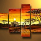 Ordinary Life_Canvas Oil Painting Framed African Art (+ Frame) AR-026