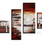 Fine Art Wall Pictures_Canvas Oil Painting Framed African Art (+ Frame) AR-027