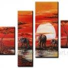 Canvas Oil Painting Framed African Art (+ Frame) AR-031