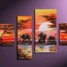 Canvas Oil Painting Framed African Art (+ Frame) AR-035