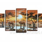 Beautiful World_Canvas Oil Painting Framed African Art (+ Frame) AR-036