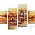 Elephant_Canvas Oil Painting Framed African Art (+ Frame) AR-038
