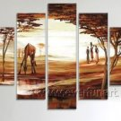 Landscape Group Oil Paintings_Canvas Oil Painting Framed African Art (+ Frame) AR-039